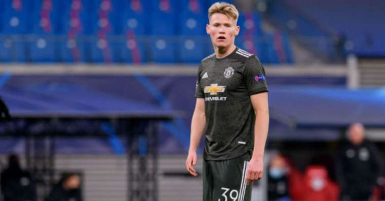 Scott McTominay made his 100th appearance for Manchester United against Sheffield United