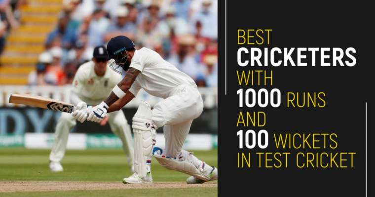 Top 10 Best Cricketers With 1000 Runs And 100 Wickets In Test Cricket