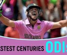 Top 10 Fastest Centuries In ODIs   2021 Updates