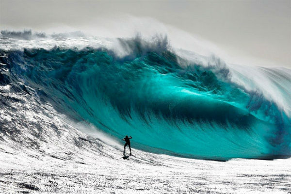 Surfing in Big Waves