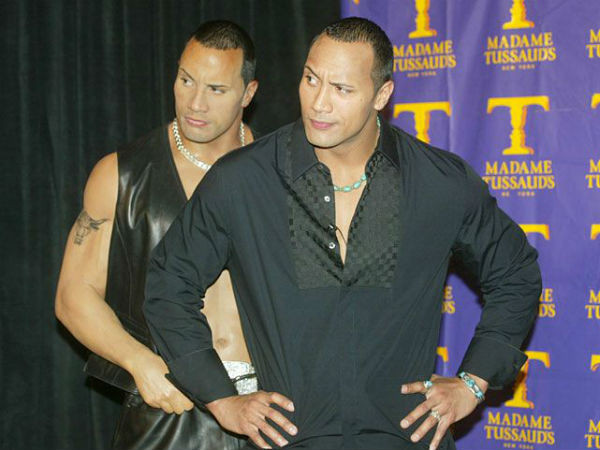 The Rock at Madame Tussaud