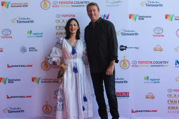 Sara Leonardi and Glenn McGrath