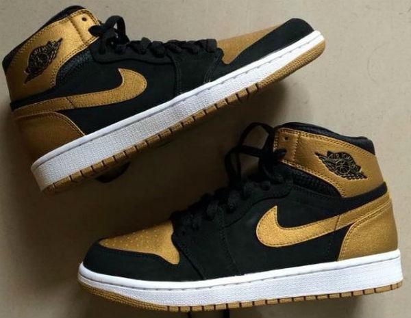 Air Jordan 1 Black and Gold