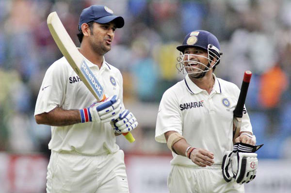 MS Dhoni and Sachin Tendulkar