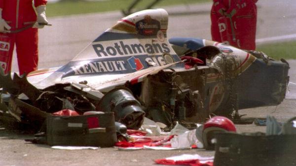 Ayrton Senna Crashed Car