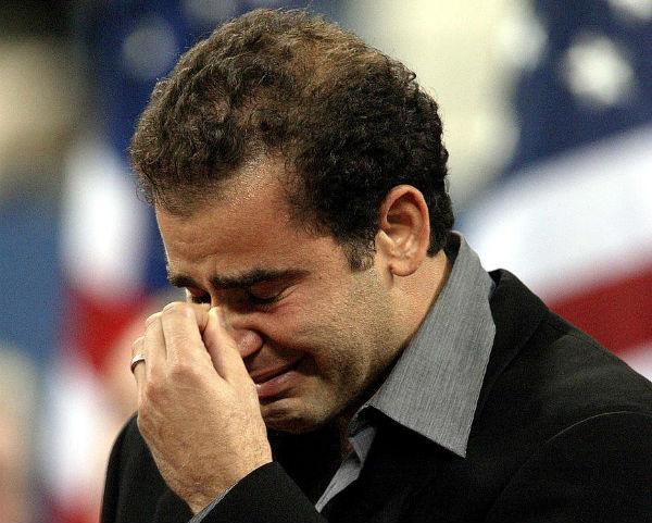 Pete Sampras Cries